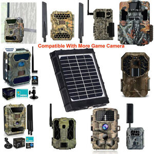 Solar Panel Charger for Hunting Trail Cameras Feeder Kit Forest Wild Game Camera