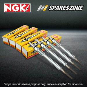 4 NGK Glow Plugs for Ford Transit VE VF VG 2.5L 4Cyl 1994-2000 Premium Quality