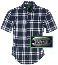 32a2e8c8 NWT Hugo Boss Green Label By Hugo Boss Short Sleeve Checked Sport Shirt