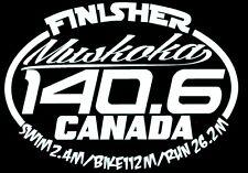 2018 or Any year Ironman Muskoka Canada Triathlon Finisher Decal