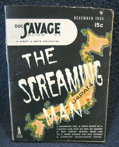 """DOC SAVAGE Pulp/Digest (December 1945) - """"The SCREAMING Man"""" - Robeson"""