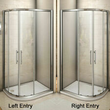 Offset Quadrant Shower Enclosure Corner Cubicle Door and Tray-800/900/1000/1200