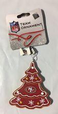 San Francisco 49ers Gingerbread Tree Christmas Tree Xmas Ornament NEW - TREE