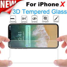 9H Full Cover Curved Premium Tempered Glass Screen Protector Film For iPhone X