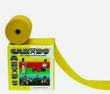 YELLOW Cando (TheraBand) by the FOOT Physical Therapy Exercise Latex-free Band