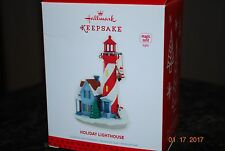 2013 Hallmark Holiday Lighthouse 2nd in Series Magic Cord Xmas Keepsake Ornament