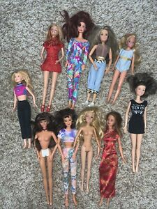 Lot Of 10 Barbie And Friends Dolls For OOAK OR PLAY
