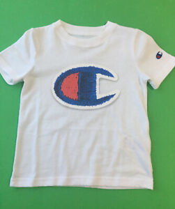 Champion Authentic Athletic Wear Toddler Boys Logo White T-Shirt Size 4T