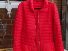 Massimo Dutti Red Quilted Puffer Jacket Size L New