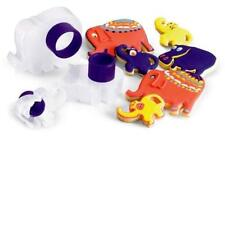 Cuisipro Cookie Cutters Zoo Animal Shape Design 3pc Set Snap Fit Storage New