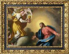 Dipinto antico del XVII-XVIII secolo - Olio su tela - CRISTO NELL'ORTO