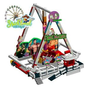 """Kirmes Karussell """"Flying Machine"""" Bauplan für LEGO/ andere Klemmbausteine."""