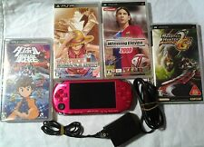 PLAYSTATION PORTABLE PSP 3000 BORDEAUX METALLIZZATO JAP + 4 GIOCHI