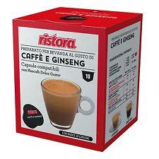 40 Cialde Capsule Caffe Al Ginseng Ristora Compatibile Nescafè Dolce Gusto