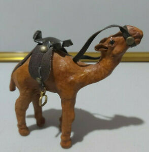Vintage 1960s  Leather Camel ornament  Approx 13cm long - 13cm high - in VGC