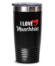 Munchkins Cat Gift for Cat Lovers - Munchkins Tumbler Present Travel Mug 20oz St