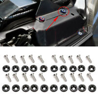20Pcs JDM Billet Aluminum Fender/Bumper Washer Bolt Engine Bay Dress up - Black