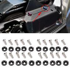 20Pcs Black JDM Billet Aluminum Fender/Bumper Washer Bolt Engine Bay DressUP SET