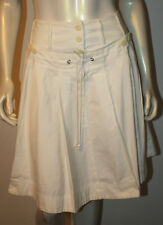 ELEVENSES Ivory Button Front Pleated SAILOR Skirt NWT 4 Anthropologie