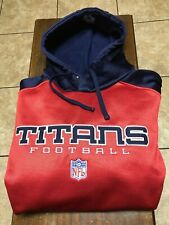 NWOT Tennessee Titans L/S hooded sweatshirt size M red, blue