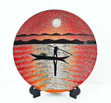 Vietnam Art Lacquer Dish - Eggshell Inlaid - Lacquer dish for wall hanging #2