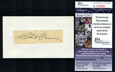 Clint Brown {1903-1955} Signed Cut Index Card Indians White Sox Pitcher JSA/COA