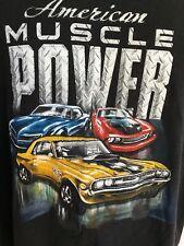 Muscle Car Shirt Black T-Shirt XL Car American Muscle Cars Black Cotton