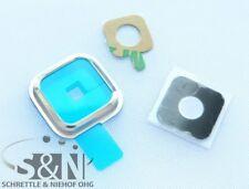 Samsung Galaxy S5 Neo SM- G903F Kamera Glas Linse Scheibe silber Rahmen