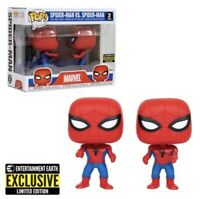 IN HAND Spider Man Imposter Pop Vinyl Two Pack Entertainment Earth Exclusive