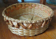 NICE NATIVE AMERICAN NORTHEAST US BASKET with PORCUPINE TWISTS