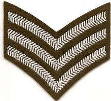 BRITISH ARMY 3 BAR SERGEANTS CHEVRON