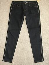 New Womens Cult of Individuality Jeans Sz 30 Dark Wash Mid Rise Teaser Skinny