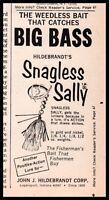 1976 John J. Hildebrand SHAGLESS SALLY Fishing Lure Vintage PRINT AD Clipping