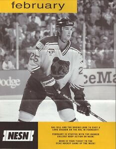 Boston Bruins--Hal Gill--1999 NESN Monthly Televised Schedule