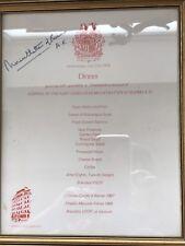 Lord Mountbatten Signed Framed Autograph Dinner Menu 1976