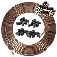 "Copper Nickel, Kunifer Brake Pipe 25ft Roll, 3/16"", 24 3/8"" UNF Male Female Ends"