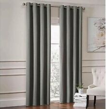 """Garland Lined Grommet Top Curtain Panel 84"""" Pewter Gray 1 Panel"""