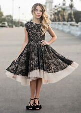 NWT Girl's Joyfolie Evalina Dress in Black Lace Girls size 7