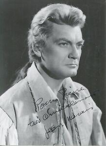 Autographe Dédicace ORIGINAL de l'Acteur JEAN MARAIS Collection Pierre Goulliard