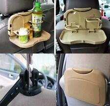 Car Auto Foldable Food Tray Rear Seat Dining Table Drink Cup Holder