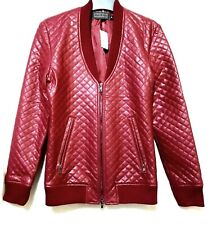 Cook Jeans quilted burgundy zipped jacket