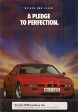 BMW 850 CSi 1992-93 UK Market Foldout Sales Brochure 8-Series