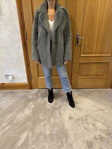 Hartford Grey Faux Fur Coat/UK 10-12