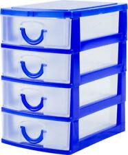 Boites de rangement tiroirs bleus pour la maison