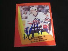 DONALD AUDETTE AUTOGRAPHED 1990 AHL PROCARDS ROCHESTER AMERICANS CARD