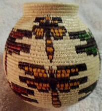 Wounaan Embera Indian Elegant Dragonfly Woven Basket-Panama 17091404L