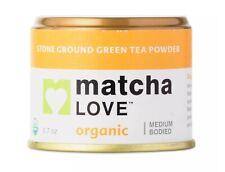 MATCHA LOVE ORGANIC - STONE GROUND TEA POWDER 0.7 OZ Made in Japan Exp:2021 New