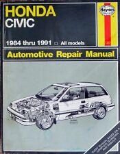 HAYNES HONDA CIVIC 1984 thru 1991 REPAIR MANUAL - BOOK