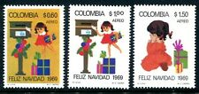 Colombia C523-C525, MNH, Christmas, Childrens Mailing Letter x9213