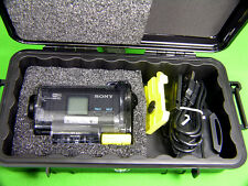 New Pelican ™ 1060 Black Case fits Sony POV Action Cam HDR-AS15 +Nameplate